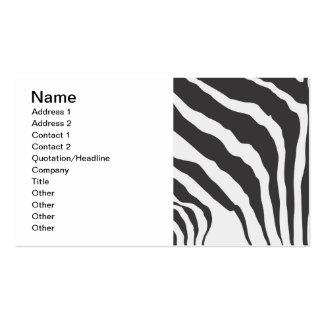 Zebra-Streifen-Druck-Muster - kundenspezifische Vi Visitenkartenvorlagen
