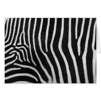 Zebra-Streifen-Muster-Gruß-Karte Karte