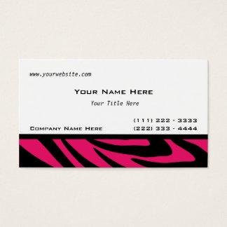Zebra Stripes Fuschia Visitenkarte