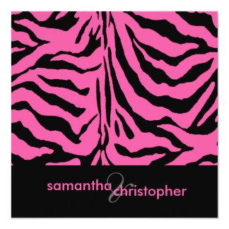 Zebra stripes Hochzeits-Einladungen Quadratische 13,3 Cm Einladungskarte