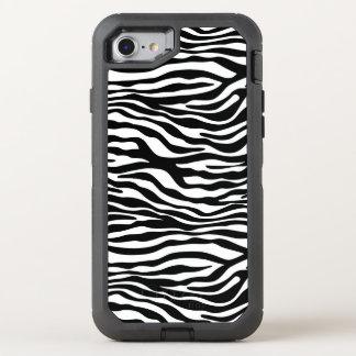Zebra stripes Musterschwarzes u. -WEISS + Ihre OtterBox Defender iPhone 8/7 Hülle