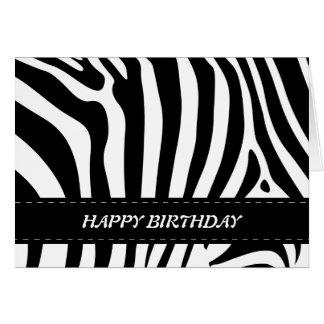 Zebra stripes schwarze u. weiße alles Gute zum Karte