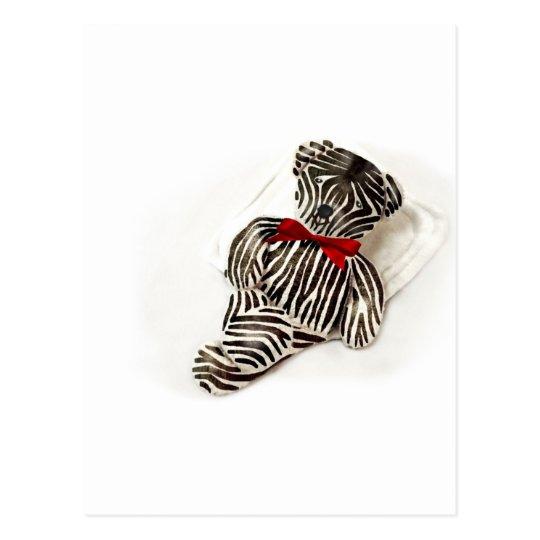 Zebra Teddy Postkarte