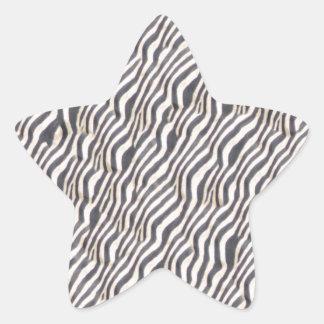 Zebra-Tierdruck-Muster Stern-Aufkleber
