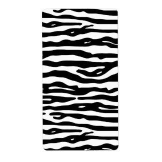 Zebra-Tierdruck-Schwarz-weißes Streifen-Muster