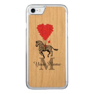 Zebra und rotes Herz Carved iPhone 8/7 Hülle