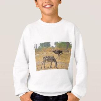Zebra und Strauß TomWurl.jpg Sweatshirt