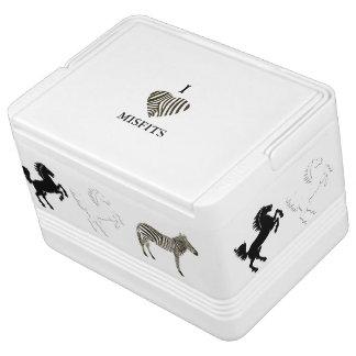 Zebra unter Pferden Igloo Kühlbox