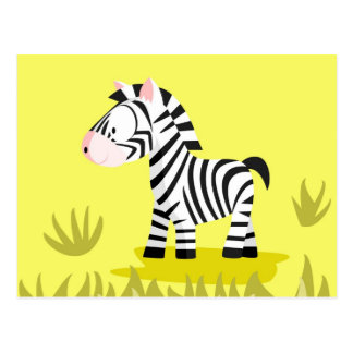 Zebra von meinem Welttiere serie Postkarte