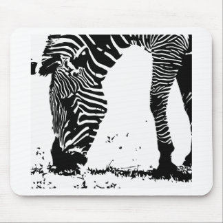 Zebra weidet mousepad