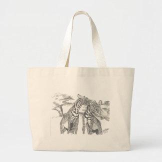 Zebra-Zeichnen Einkaufstaschen
