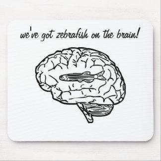 Zebrafish auf dem Gehirn mousepad