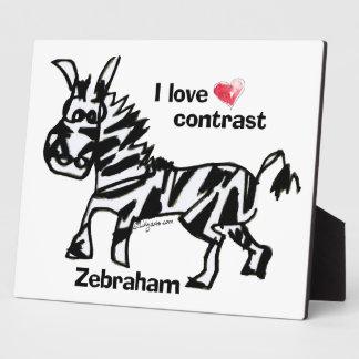 Zebraham- I Liebekontrast Fotoplatte