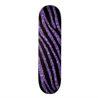 Zebralila Chic-eleganter Druck Skateboard Deck