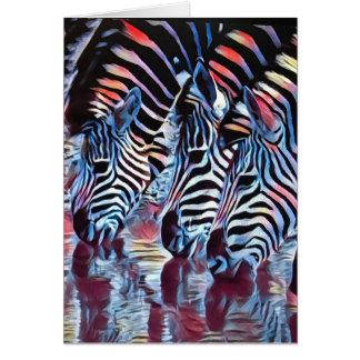 Zebras am Bewässerungs-Loch Karte