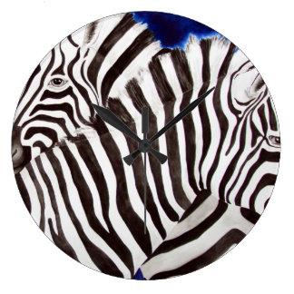 Zebras Große Wanduhr
