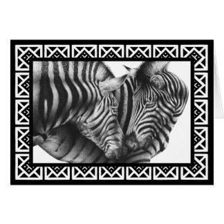 Zebras-Gruß-Karte Karte