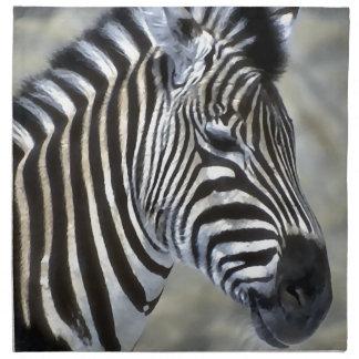 Zebras-Liebhaber-Kunst Stoffserviette