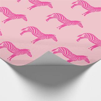 Zebras - pinkfarben und hellrosa geschenkpapier