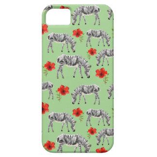 Zebras unter Hibiskus-Blumen iPhone 5 Schutzhüllen