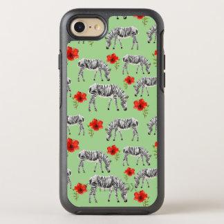 Zebras unter Hibiskus-Blumen OtterBox Symmetry iPhone 8/7 Hülle