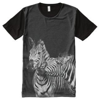 Zebras zwei, der einem Witzt-shirt sagt T-Shirt Mit Bedruckbarer Vorderseite
