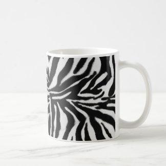 Zebratierdruckhintergrund Kaffeetasse