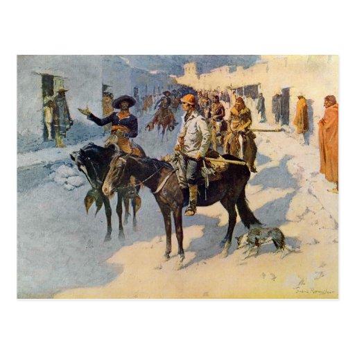 Zebulon Pike, das Santa Fe betritt Postkarte