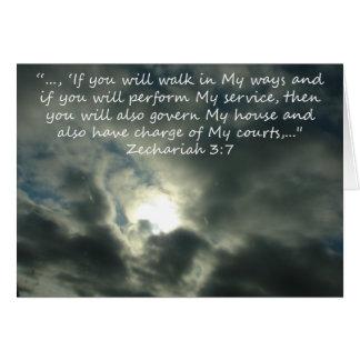 """""""Zechariah 3:7"""" durch Carter L. Shepard Karte"""
