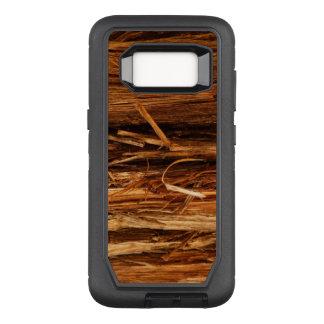 Zeder hölzerner Barken-Texturblick OtterBox Defender Samsung Galaxy S8 Hülle