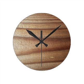 Zedern-Holz Runde Wanduhr