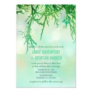 Zedern-Nadeln, die Einladung Wedding sind