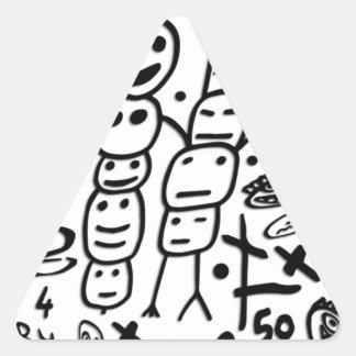 Zef Garnele Dreieckiger Aufkleber