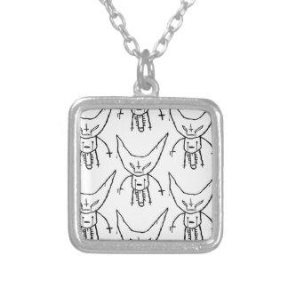 ZEF Teufel Dik Halskette Mit Quadratischem Anhänger
