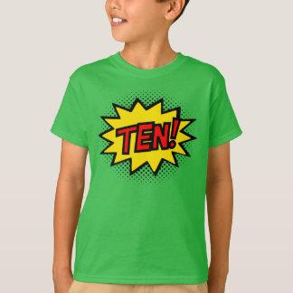 ZEHN! 10. Geburtstags-Geschenksuperhero-Logo-T - T-Shirt