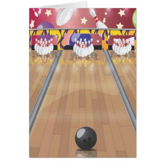 Zehn-Button Bowling Karte
