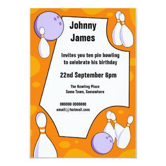 Zehn Button-Bowlings-Geburtstags-Party Einladung