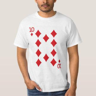 Zehn der Diamant-Spielkarte T-Shirt