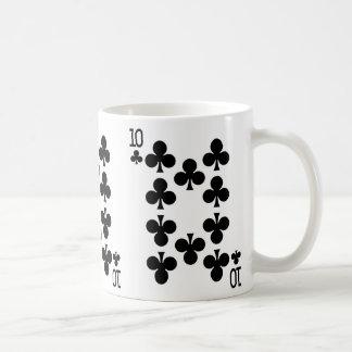 Zehn der Verein-Spielkarte Kaffeetasse