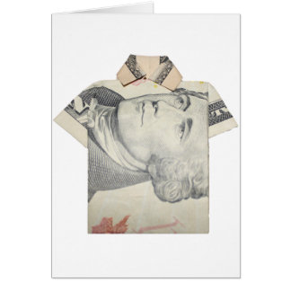 Zehn Dollar-T-Shirt Karte