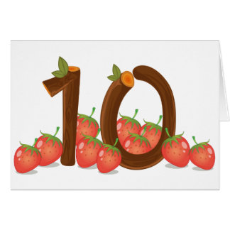 Zehn Erdbeeren Karte