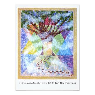 Zehn Gebot-Baum des Lebens - Judy Rey Wasserman 16,5 X 22,2 Cm Einladungskarte