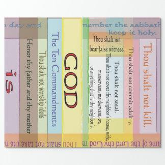 Zehn Gebot-Packpapier Geschenkpapier