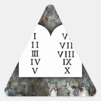 Zehn Gebote Dreieckiger Aufkleber