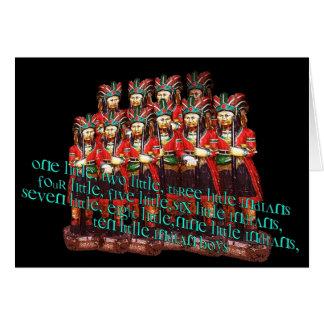 Zehn kleine indische Jungen Karte