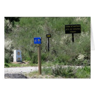 Zeichen auf der Camino Karte
