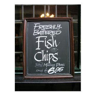 Zeichen der Fisch und Postkarte