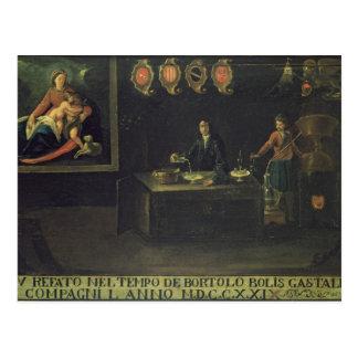Zeichen der venezianischen Innung der Apotheker, Postkarten