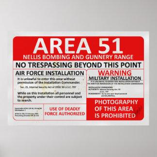 Zeichen des Bereichs-51 Poster