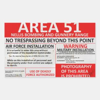 Zeichen des Bereichs-51 Rechteckiger Aufkleber